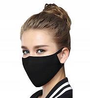 Маска многоразовая защитная тканевая хлопковая Black mask противовирусная FFP2 5 штук Черный (20144)