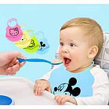 Дитячий фартух силіконовий слинявчик для годування малюків, фото 2
