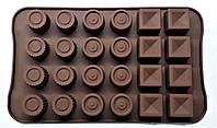 Форма силиконовая для конфет АССОРТИ 24 ячейки, фото 1