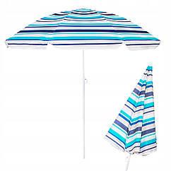 Пляжный зонт с регулируемой высотой Springos 160 см BU0006