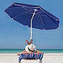 Пляжный зонт с регулируемой высотой и наклоном Springos 180 см BU0007, фото 2