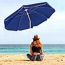 Пляжный зонт с регулируемой высотой и наклоном Springos 180 см BU0007, фото 6