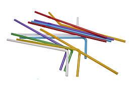 Трубочки для коктейля с коленом 210 мм 1000 шт Разноцветные 76069, КОД: 183107