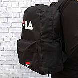 ХИТ! Молодежный вместительный рюкзак FILA, фила. Черный / F 01 Vsem, фото 3