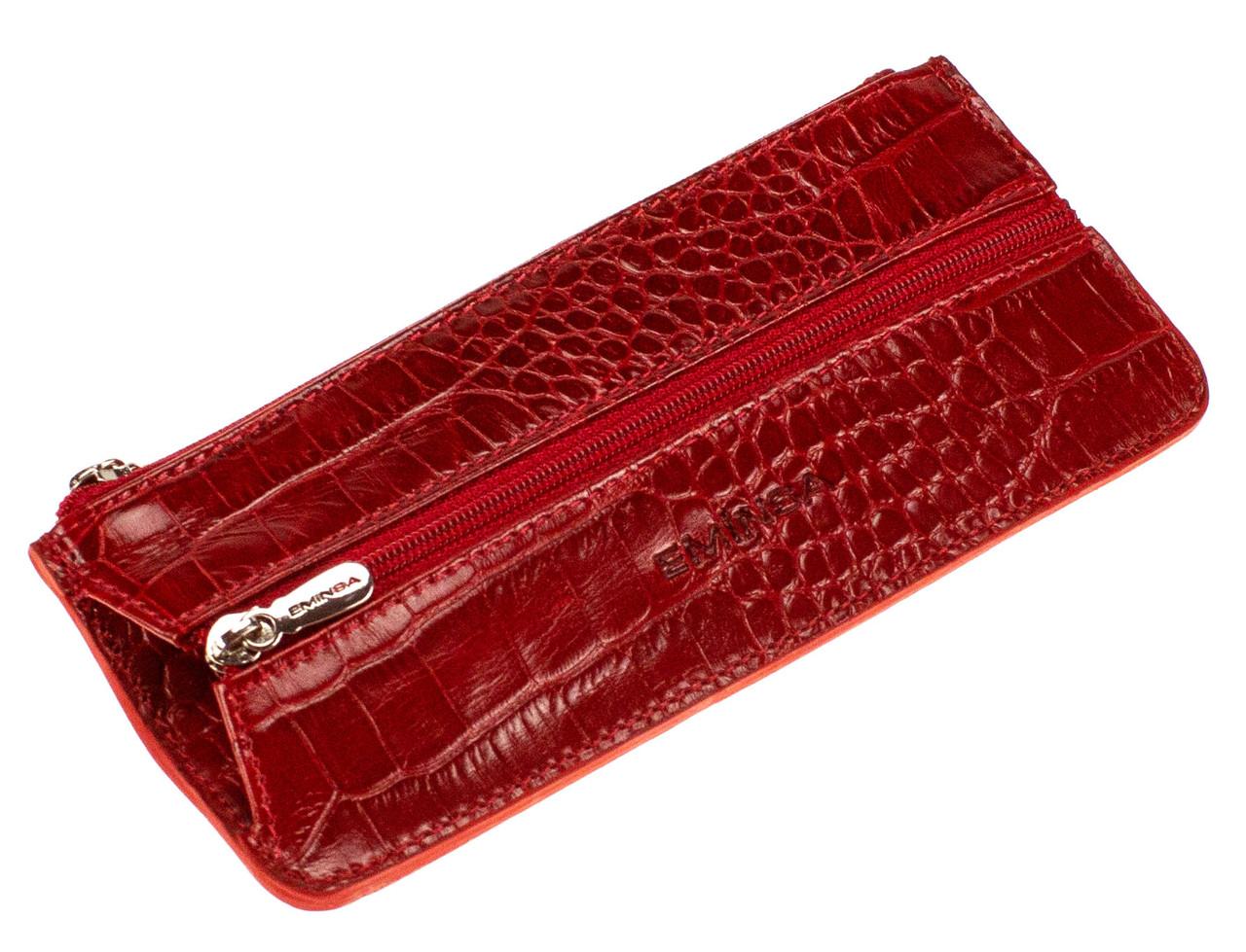 Ключница кожаная красная Eminsa 1526-4-5