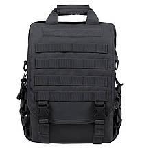 Тактическая сумка-рюкзак, мессенджер, портфель. Черный Vsem