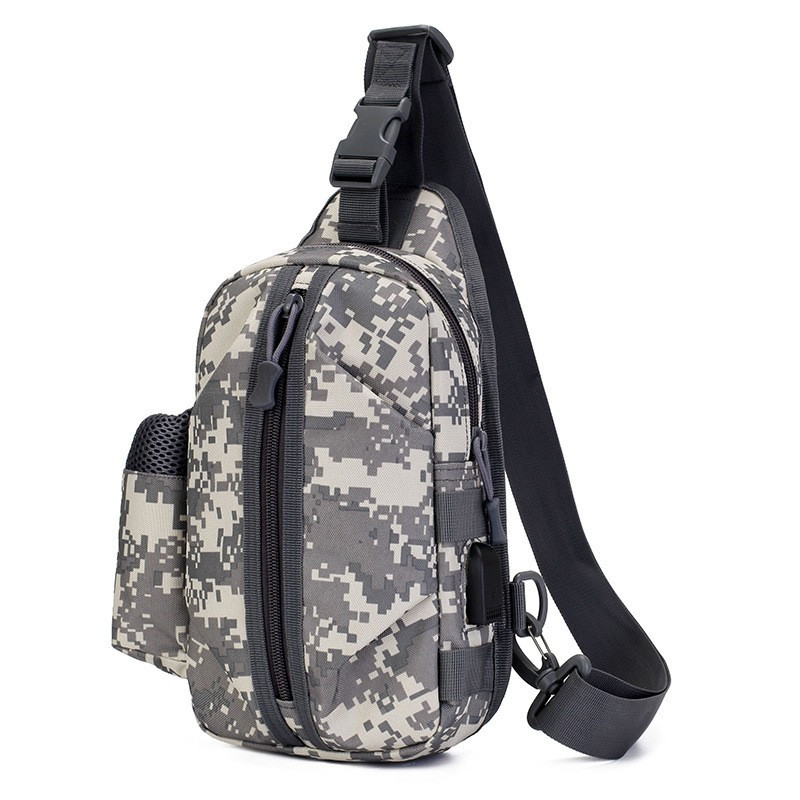 Тактическая сумка-рюкзак, барсетка, бананка на одной лямке, пиксель. T-Bag 448 Vsem