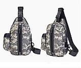 Тактическая сумка-рюкзак, барсетка, бананка на одной лямке, пиксель. T-Bag 448 Vsem, фото 3