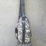 Тактическая сумка-рюкзак, барсетка, бананка на одной лямке, пиксель. T-Bag 448 Vsem, фото 5