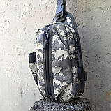 Тактическая сумка-рюкзак, барсетка, бананка на одной лямке, пиксель. T-Bag 448 Vsem, фото 6