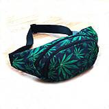 Поясная сумка, Бананка, барсетка конопля. Cannabis Vsem, фото 2