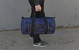 Сумка для спорта Lonsdale London. Для тренировок. Синяя с черным. Под коттон Vsem, фото 5