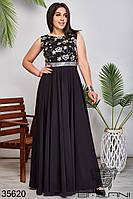 Женское вечернее платье чёрное 48,50,52,54