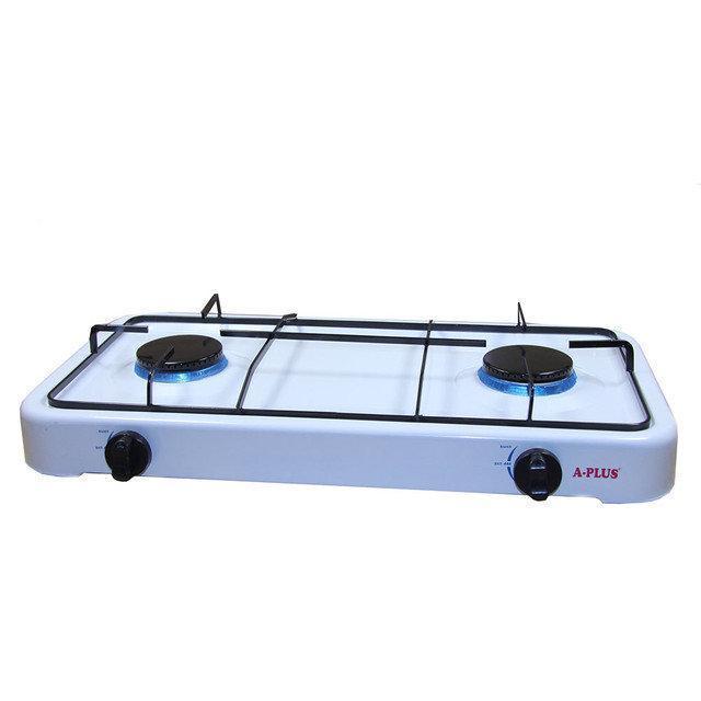 Газова плита А-Плюс 2106, 2 конфорки, таганок двоконфорочний