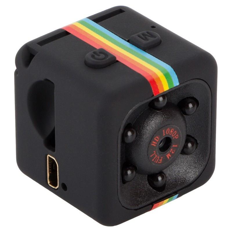 Мини экшн камера SQ11 1920*1080P Full HD с инфракрасной LED подсветкой черная С записью звука