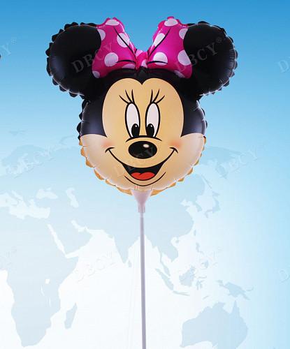 Фольгированный шар Мини Маус 35см с палочкой