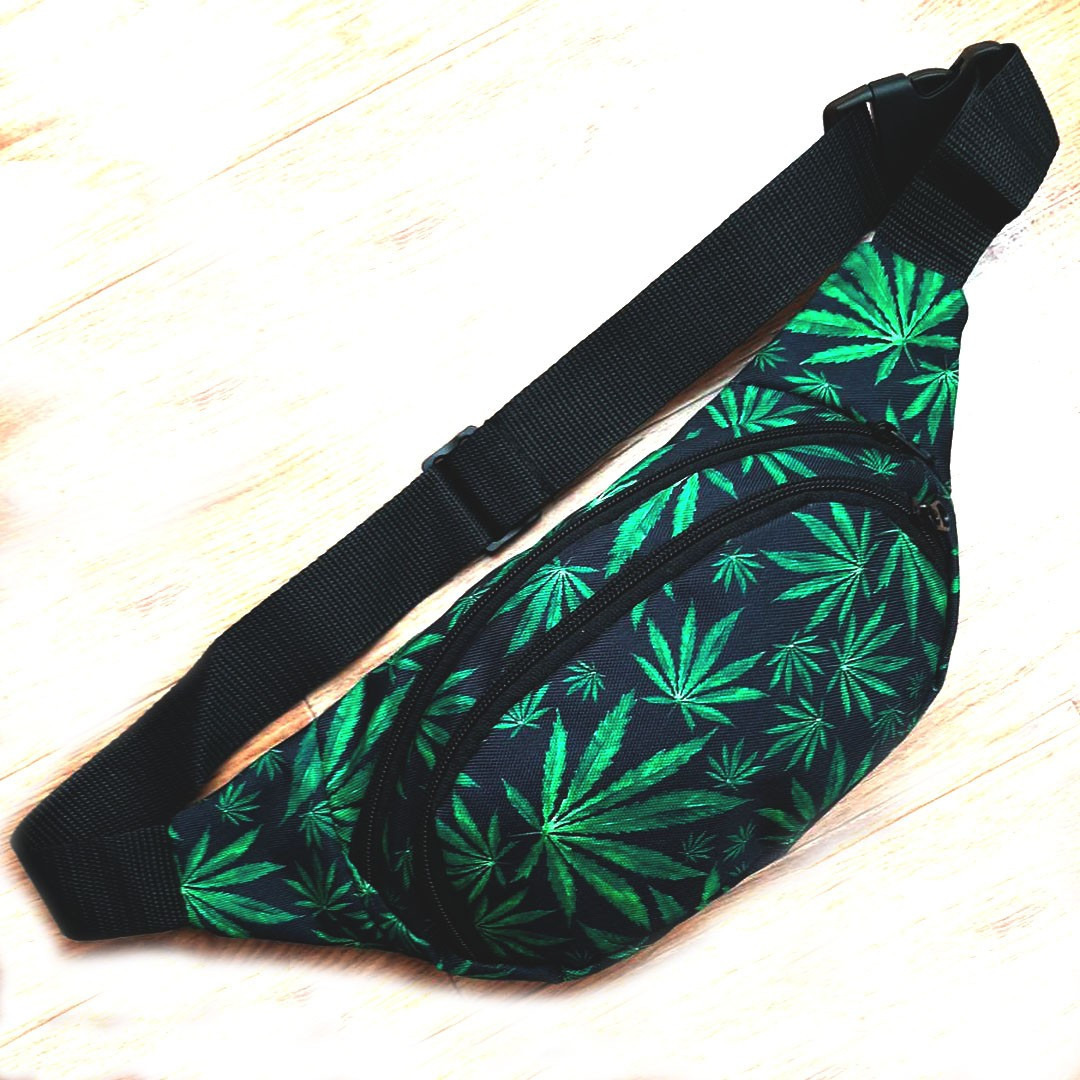 Поясная сумка, Бананка, барсетка конопля. Cannabis Vsem