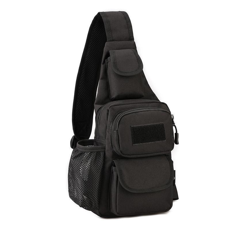 Черная тактическая сумка-рюкзак, барсетка, бананка, однолямочник. + USB выход Vsem