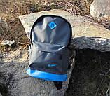 Стильный рюкзак NIKE (Найк). Серый с голубым. Vsem, фото 6
