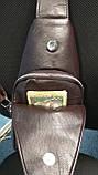 Мужская сумка на одно плечо, слинг Alligator. Коричневая / 2799-1 Vsem, фото 6