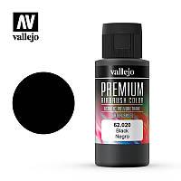 Краска чёрная 60 мл. VALLEJO PREMIUM COLLOR 62020