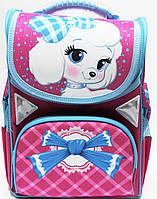 Школьный ортопедический рюкзак Собачка для девочки 34х26х14,5 см каркасный