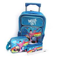 """Набор: чемодан рюкзак детский на 2 колесах 44*30*14 см+сумка+пенал """"IO""""L Мультфильм"""