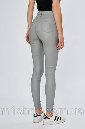 Воскованные женские серые джинсы скинни (8444), фото 2