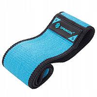 Резинка для фитнеса и спорта тканевая Springos Hip Band голубой Size S FA0109 SKL41-250634