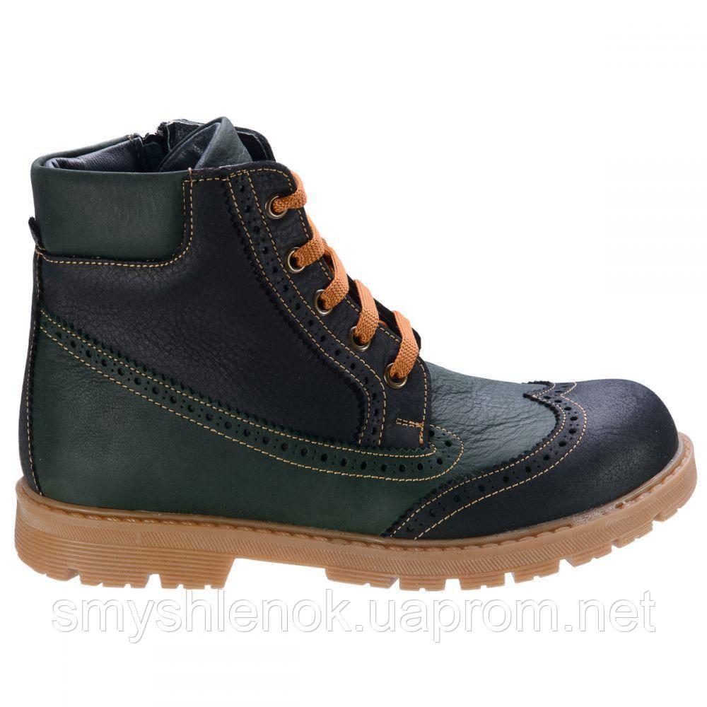 Ботинки Theo Leo RN575 31 20.1 см Черно-зеленые