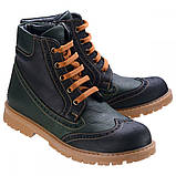 Ботинки Theo Leo RN575 31 20.1 см Черно-зеленые, фото 2