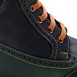 Ботинки Theo Leo RN575 31 20.1 см Черно-зеленые, фото 4