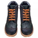 Ботинки Theo Leo RN575 31 20.1 см Черно-зеленые, фото 5