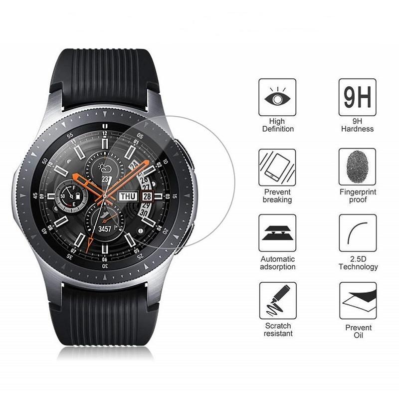 Закаленное защитное стекло для часов Samsung Galaxy Watch 46 мм.