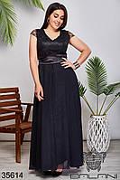 Женское нарядное платье чёрное 50,52,54