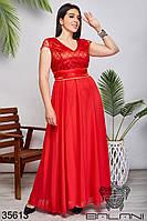 Женское нарядное платье красное 50,52,54