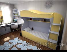 Кровать  двухъярусная с лесенкой комодом   КДК 0306-21