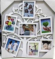 "5018 Фоторамка на 7 фото  7 в 1 "" Семейное дерево"",10*7(4), 13*9(2), 7,5*7,5 белая"