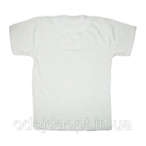 Детская белая футболка оптом и в розницу