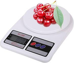 Электронные цифровые кухонные весы до 5 кг с ровной платформой без чаши белого цвета SF-400