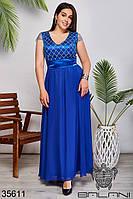 Женское нарядное платье цвет электрик 50,52,54