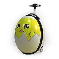 """9312-4 Чемодан детский на 2 колесах """"Яйцо цыпленок"""" 16"""" Цыпленок в яйце. Чемодан для девочки."""