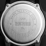 Чоловічі годинники Skmei 1206 Black-White, фото 2