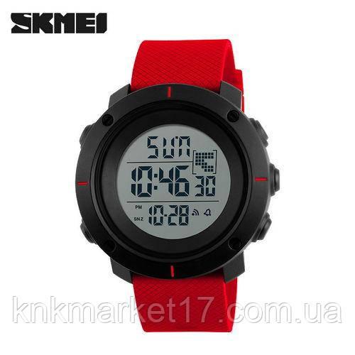 Чоловічі годинники Skmei 1212 Black-Red Wristband