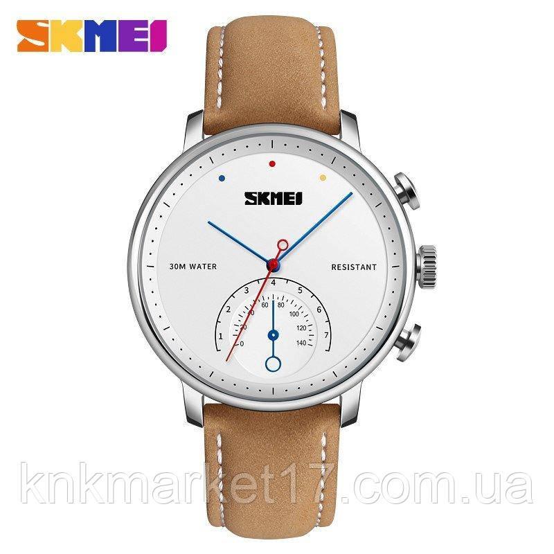 Skmei 1399 Brown-Silver-White