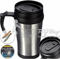 Охотнику, Кружка-термос 0.4л. Travel Mugs+НОЖ
