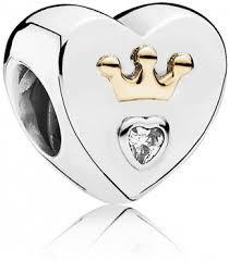 Шарм «Волшебное сердце» из серебра 925 пробы с золотом в стиле Pandora
