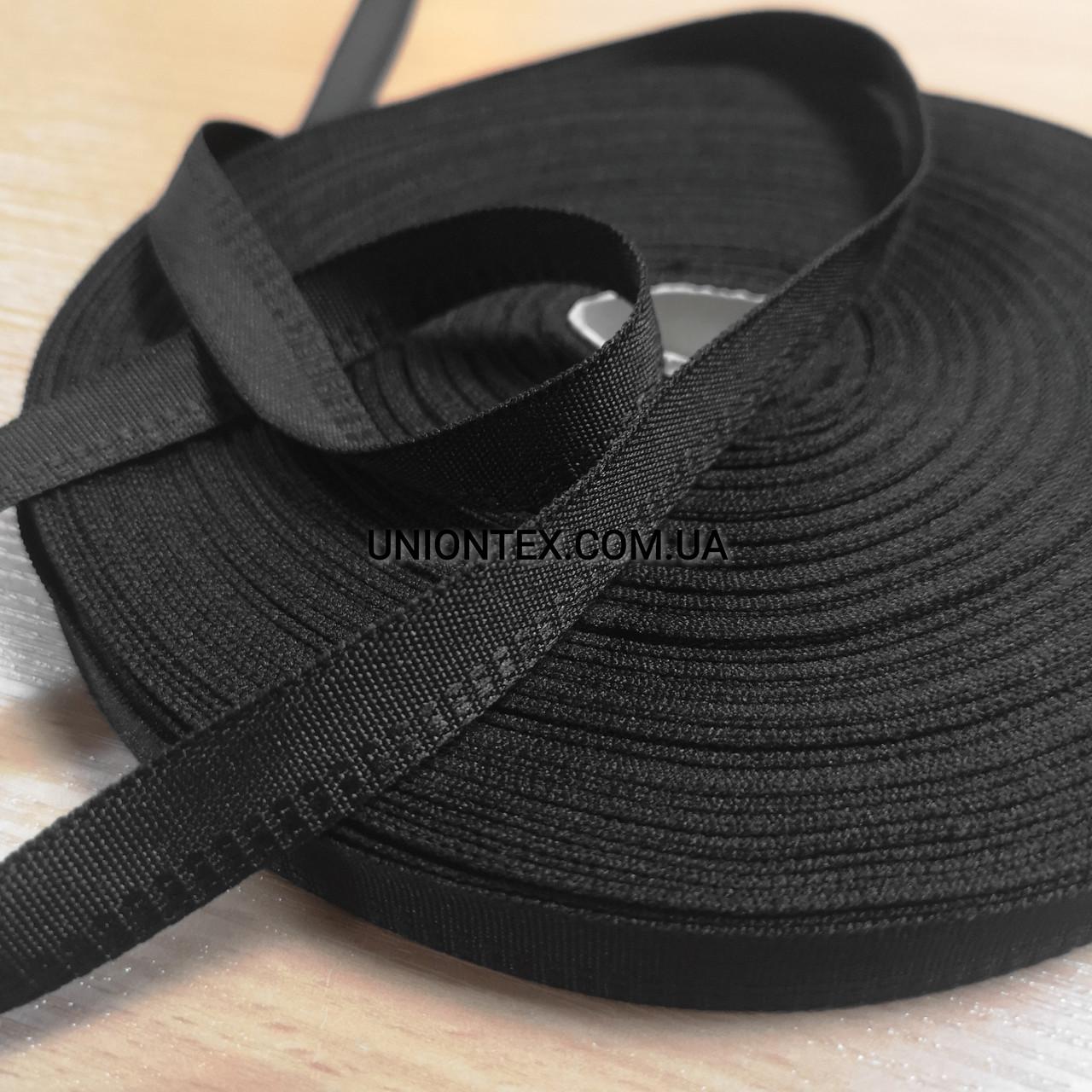 """Тесьма для одежды """"брючная"""" черная, 1.5см"""