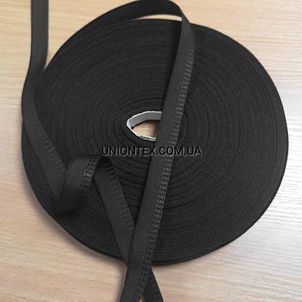 """Тесьма для одежды """"брючная"""" черная, 1.5см, фото 2"""