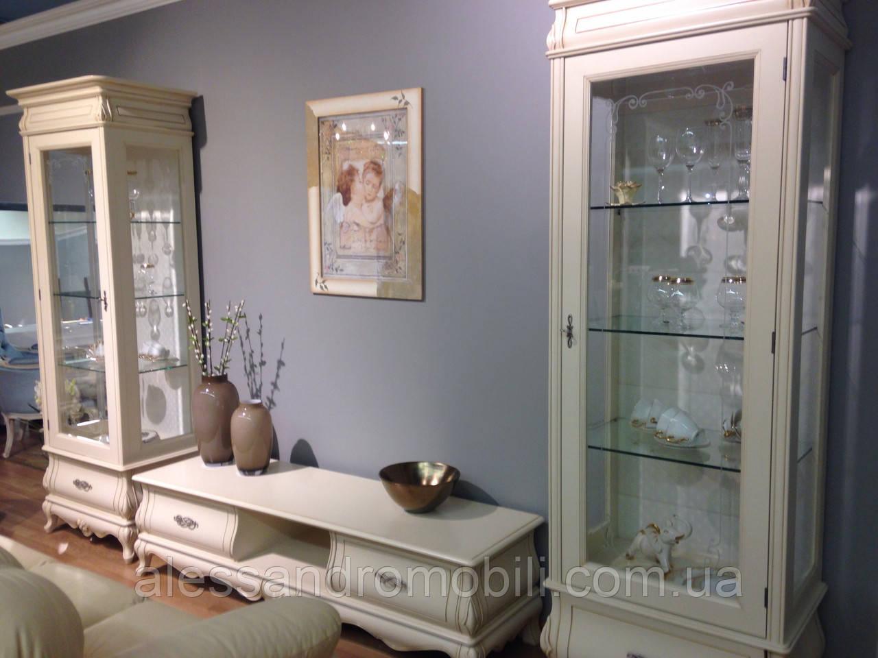 Комод ТВ и однодверные витрины Tintoretto cream, Румыния, фото 1